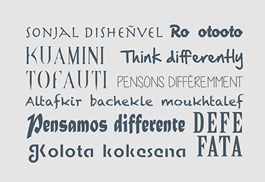 Nuage de mot en plusieurs langue signifiant